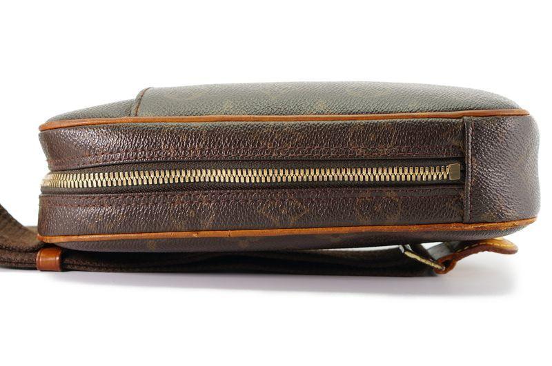 ルイヴィトン Louis Vuitton モノグラム ガンジュ M51870 ボディバッグ ワンショルダー ポシェット 定価約12.3万 _画像3