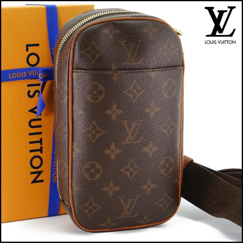 ルイヴィトン Louis Vuitton モノグラム ガンジュ M51870 ボディバッグ ワンショルダー ポシェット 定価約12.3万