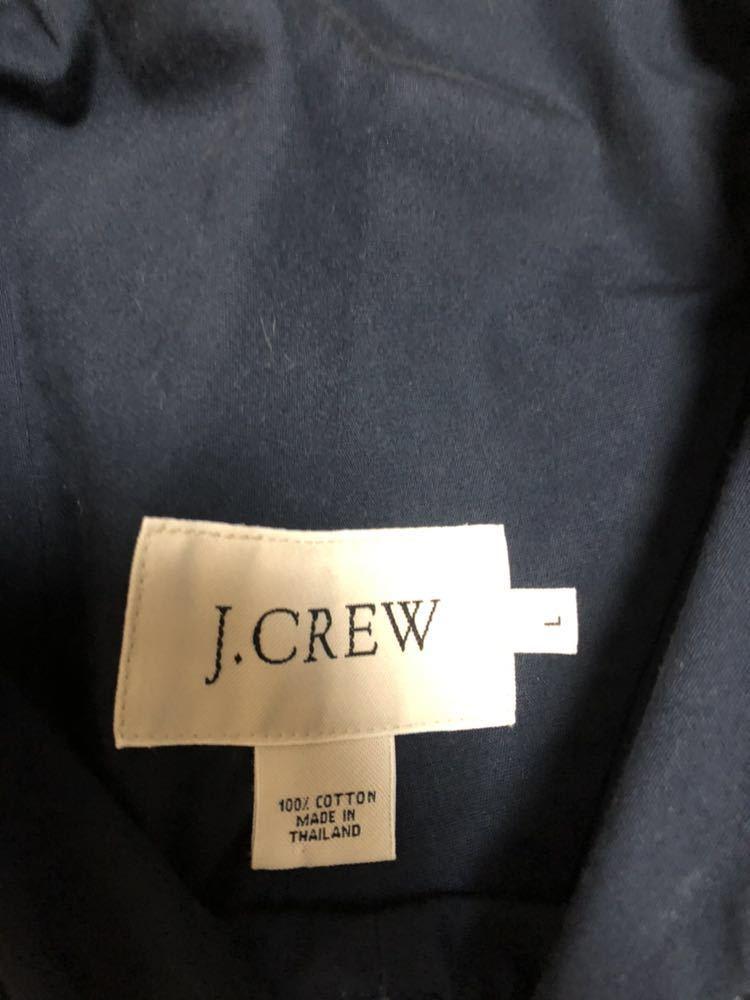 【古着】J.CREW 名作 アノラック 紺×白 sizeL プルオーバー ビンテージ ジェイクルー ネイビー×ホワイト_画像2