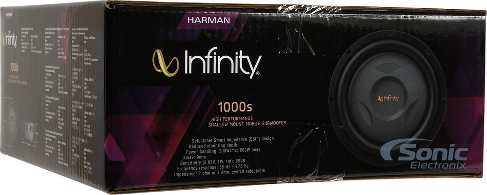 ■USA Audio■インフィニティ Infinity REFERENCE シリーズ●薄型 REF1000S (Refrerence 1000S) 25cm (10インチ)Max.800W ●保証付●税込_画像7