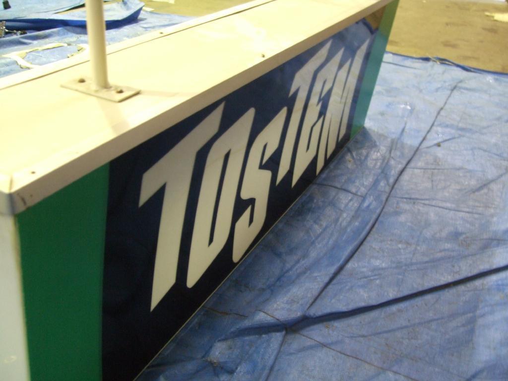 北海道札幌発 引取り限定 ジャンク扱い TOSTEM/トステム 天吊り型 大型蛍光灯看板 大きさ約125cm_画像2