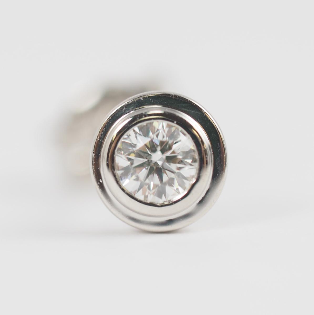 VENDOME AOYAMA ヴァンドーム青山 1粒ダイヤモンド(石目なし) Pt950/900 ピアス [22832]_画像7