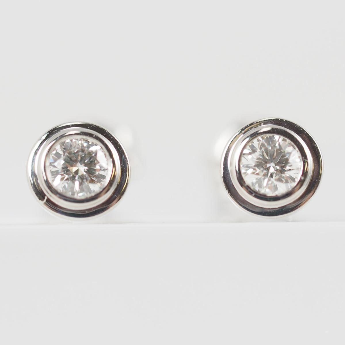 VENDOME AOYAMA ヴァンドーム青山 1粒ダイヤモンド(石目なし) Pt950/900 ピアス [22832]_画像1