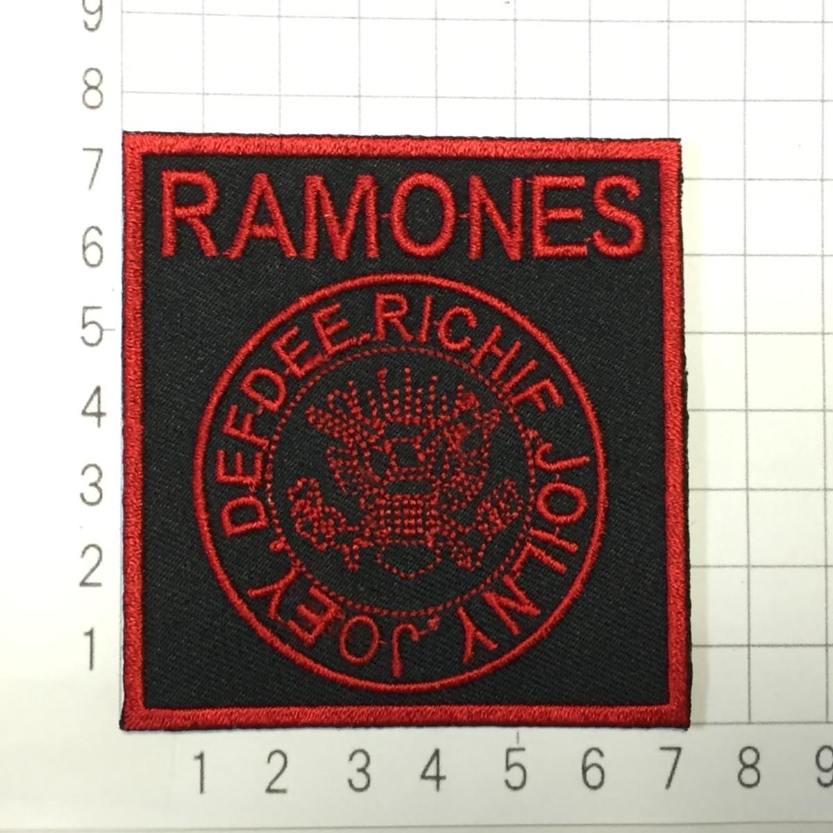 182 Ramones ラモーンズ ラモンズ 四角形ロゴ アイロン ワッペン 音楽 パンク ロック リペア カスタム 刺繍ワッペン アイロンワッペン_画像2