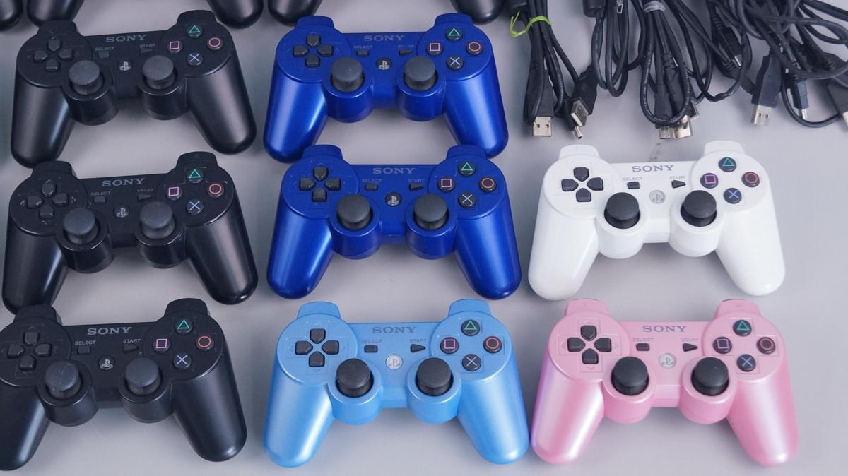 G36 PS3 デュアルショック3 コントローラ 18点 ケーブル 7本セット まとめて品 ジャンク_画像4