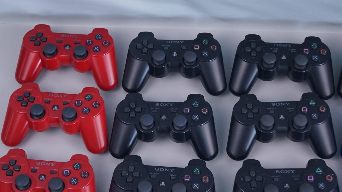 G36 PS3 デュアルショック3 コントローラ 18点 ケーブル 7本セット まとめて品 ジャンク_画像2