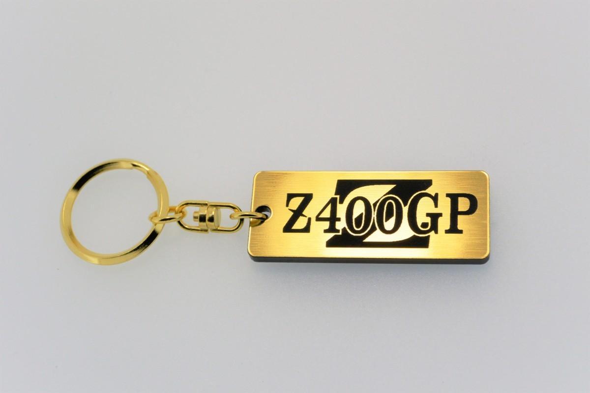 A-25-1 送料無料 Z400GP バージョン1 金黒 ゴールド2重リング オリジナル キーホルダー iPhone メインキー ブランクキー 等に