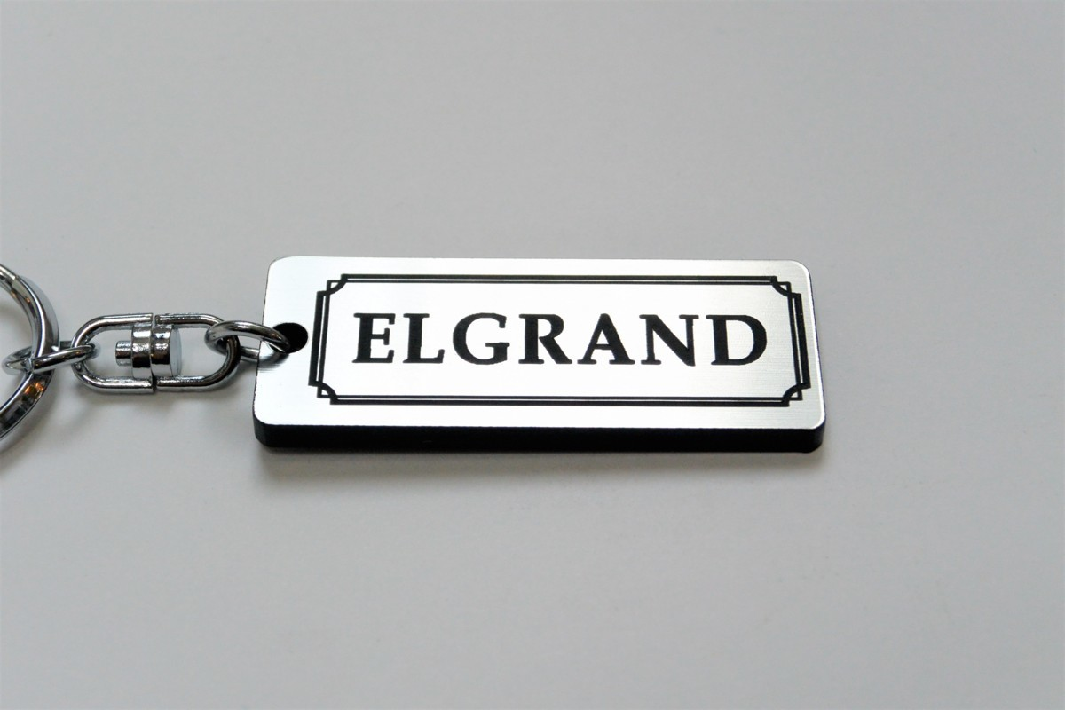 A-422-2 送料無料 ELGRAND バージョン1 銀黒 銀2重リング オリジナル スマート キーケース キーホルダー 等 エルグランド E50 E51 E52 日産