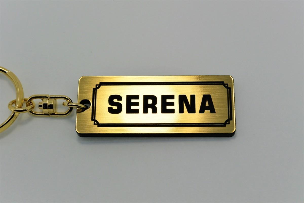 A-428-1 送料無料 SERENA バージョン1 金黒 金2重リング オリジナル スマート キーケース キーホルダー 等 セレナ c25 c26 c27 c24 日産