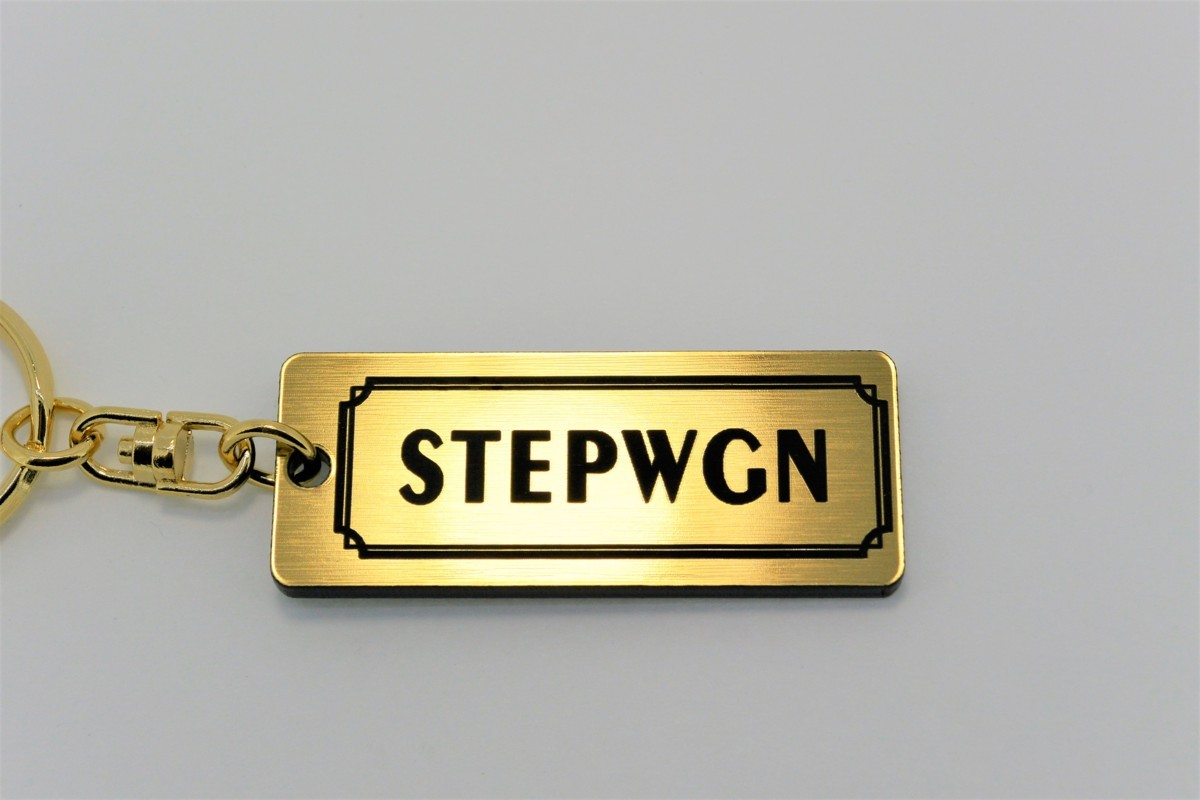 A-460-1 送料無料 STEPWGN バージョン1 金黒 金2重リング オリジナル スマート キーケース キーホルダー 等 ステップワゴン rk rp rg rf