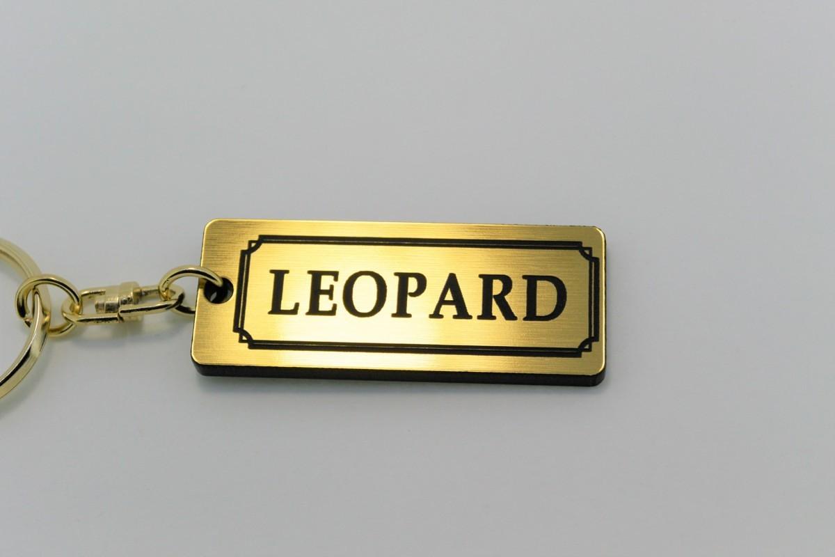 A-490-1 送料無料 LEOPARD バージョン1 金黒 金2重リング オリジナル スマート キーケース キーホルダー 等 レパード f30 f31 gf31 日産_画像1
