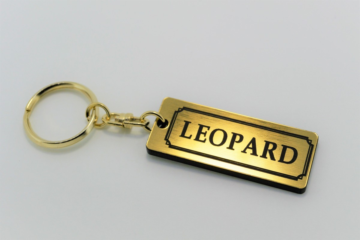 A-490-1 送料無料 LEOPARD バージョン1 金黒 金2重リング オリジナル スマート キーケース キーホルダー 等 レパード f30 f31 gf31 日産_画像2