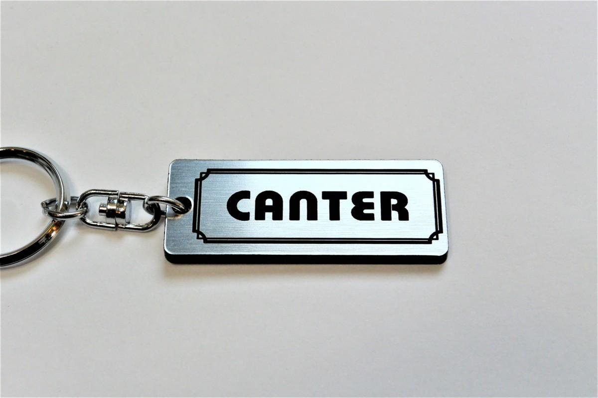 A-538-2 送料無料 CANTER バージョン1 銀黒 銀2重リング オリジナル スマート キーケース キーホルダー 等 キャンター 三菱 ニュー ダンプ