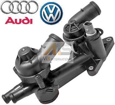 【M's】VW トゥーラン-(1T) ティグアン(5N) シャラン-(7N) シロッコ(13) 純正品 サーモスタット ASSY//正規品 03C-121-111P 03C121111P_画像1