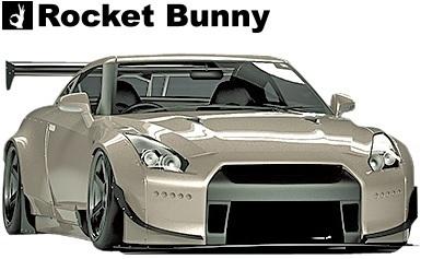 【M's】ニッサン R35 GT-R (2008y-) Rocket Bunny ワイドボディキット 15点//FRP製 GTR ロケットバニー ロケバニ エアロ コンプリートキ_画像3