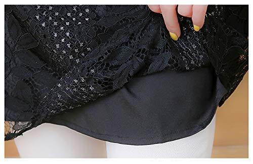 3L 新品 レディース 五分袖 七分袖 レーストップス チュニック きれいめ シースルー カットソー 黒 3L 15 大きいサイズ ブラック 重ね着風_画像6
