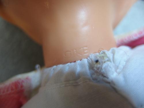 590498a【OIKE オオイケ スリープアイドール】中古品/全長38㎝程/目や髪の劣化強い/昭和レトロ*女の子お人形_画像6