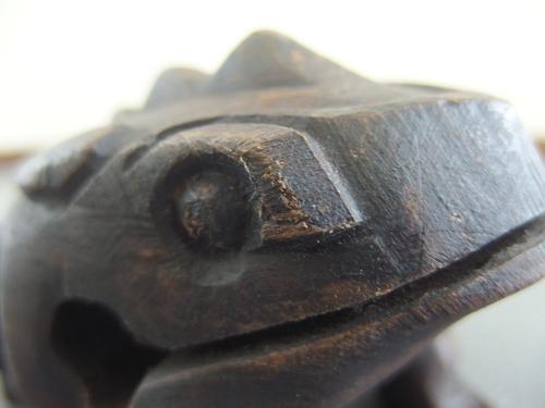 590715a【カエル ギロ】楽器/木製/インテリア小物/H8cm/中古品_画像10
