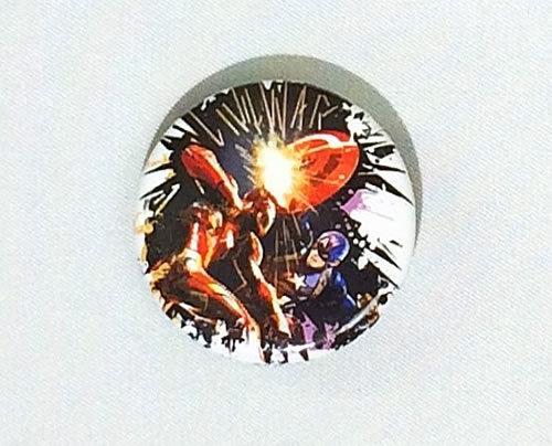 MARVEL(マーベル) アベンジャーズ シビル・ウォー/キャプテン・アメリカ 缶バッジ(ピンタイプ)☆_画像1