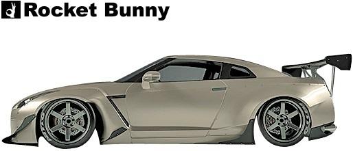 【M's】ニッサン R35 GT-R (2008y-) Rocket Bunny ワイドボディキット 15点//FRP製 GTR ロケットバニー ロケバニ エアロ コンプリートキ_画像5
