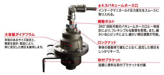 東名 TOMEI フューエル プレッシャー レギュレーターType-S 185001 在庫あり 燃圧調整式 FUEL PRESSURE REGULATOR AN6/φ8 レギュレター_画像2