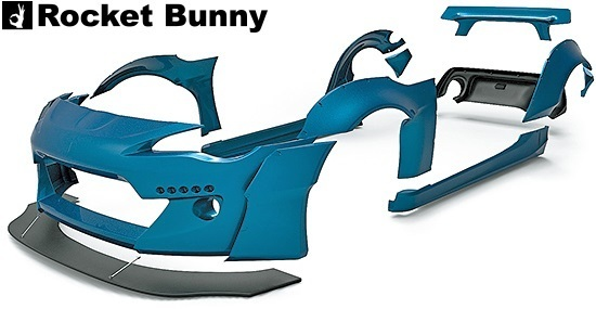 【M's】トヨタ 86 / スバル BRZ (ZN6/ZC6) Rocket Bunny Ver.2 ワイドボディキット 9点セット//FRP製 TRA京都 ロケットバニー ロケバニ_画像5