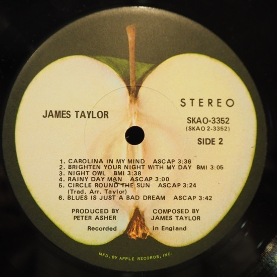 ■APPLEレコ!★JAMES TAYLOR★送料無料(条件有り)3千枚+出品中!★オリジ名盤■_画像3