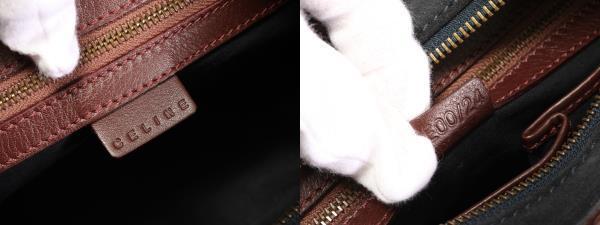 1円 美品 セリーヌ レザー ブラゾン ショルダーバッグ ハンド トート ビジネス 通勤 フォーマル 婦人 ブランド スエード 革 ブラック X7_画像2