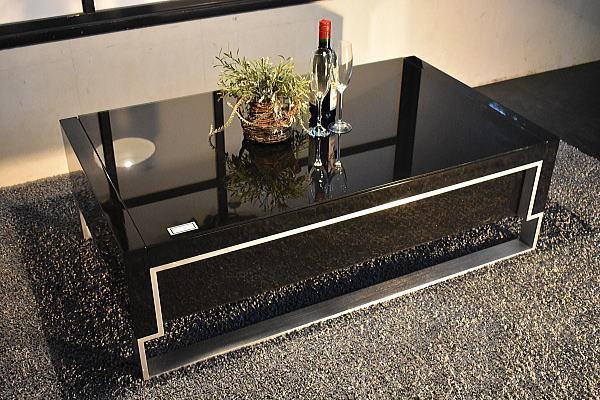 ST28I02-KC#【開梱設置 新品】強化ガラス&ハイグロス北欧デザインセンターテーブル【美品展示品展示処分品収納ローテーブルアウトレット_画像2