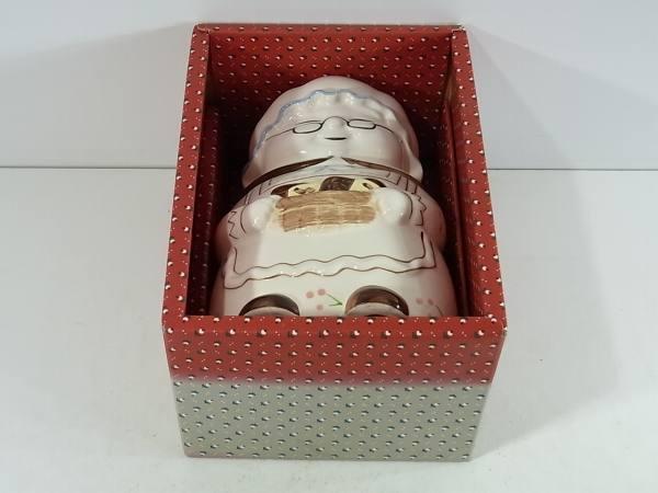 人形型小物入れ 1点 全高約19cm 陶磁器 箱入り_画像9