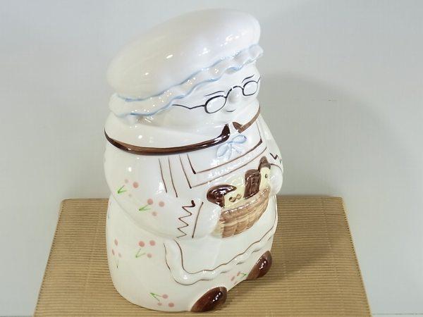人形型小物入れ 1点 全高約19cm 陶磁器 箱入り_画像3