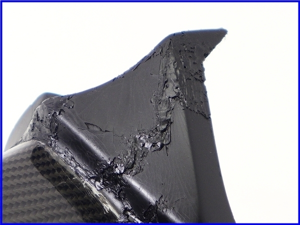 【M1】ZZR1400 A-TECH カーボンアッパーインナーパネル 右側♪Black Diamond♪_画像7