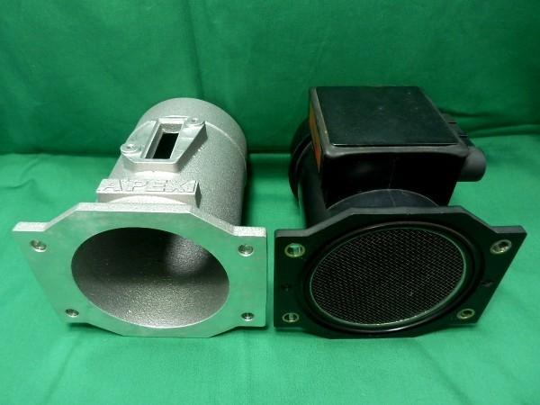 データ付!APEX R35エアフロ変換アダプター カプラー付 500-AA08 Φ80 Z32エアフロ同寸法 R32 R33 R34 パワーFC用VQマップデータ付 APEXi_画像3