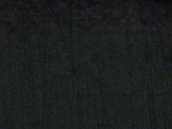 まゆの四季/仕立上がり/男浴衣/本麻縮ちぢみ黒無地-M_画像6