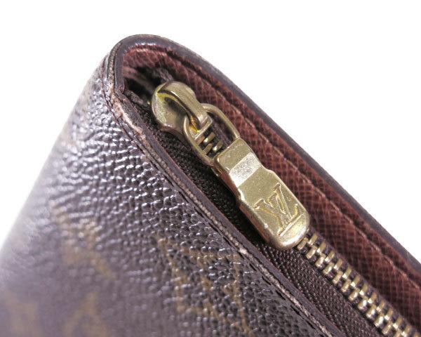 1円 ルイヴィトン LOUISVUITTON 財布 長財布 ラウンドファスナー モノグラム パンダ ポルトモネジップ M61729 レディース 1464420_画像4