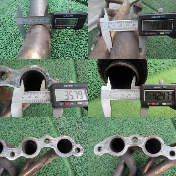 AE86 レビン 4AG メーカー不明 社外 ステン たこ足 エキマニ フロントパイプ 4-1 トレノ 補修ベース ①_画像10