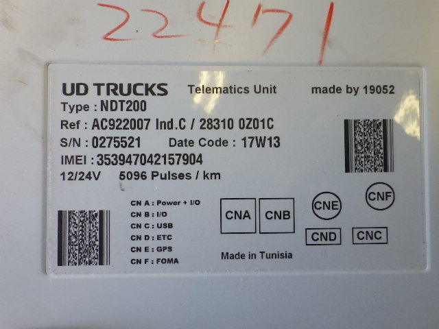 961-6-60-0 ★ 日産 UD トラックス クオン 純正 デジタル タコグラフ QPG-CG5ZA_画像5