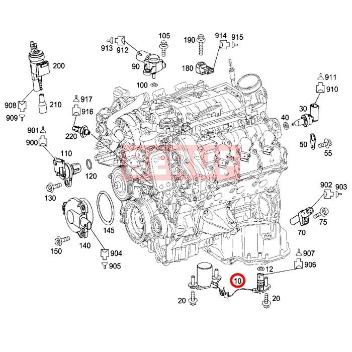メルセデスベンツ エンジン オイルレベルセンサー GLKクラス X204 GLK300 GLK350 0011531332_画像2
