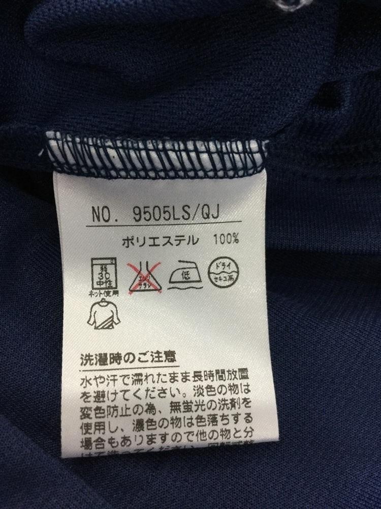 ブラック&ホワイト ダークブルー ゴルフシャツ 吸水速乾機能 サイズ2_画像6