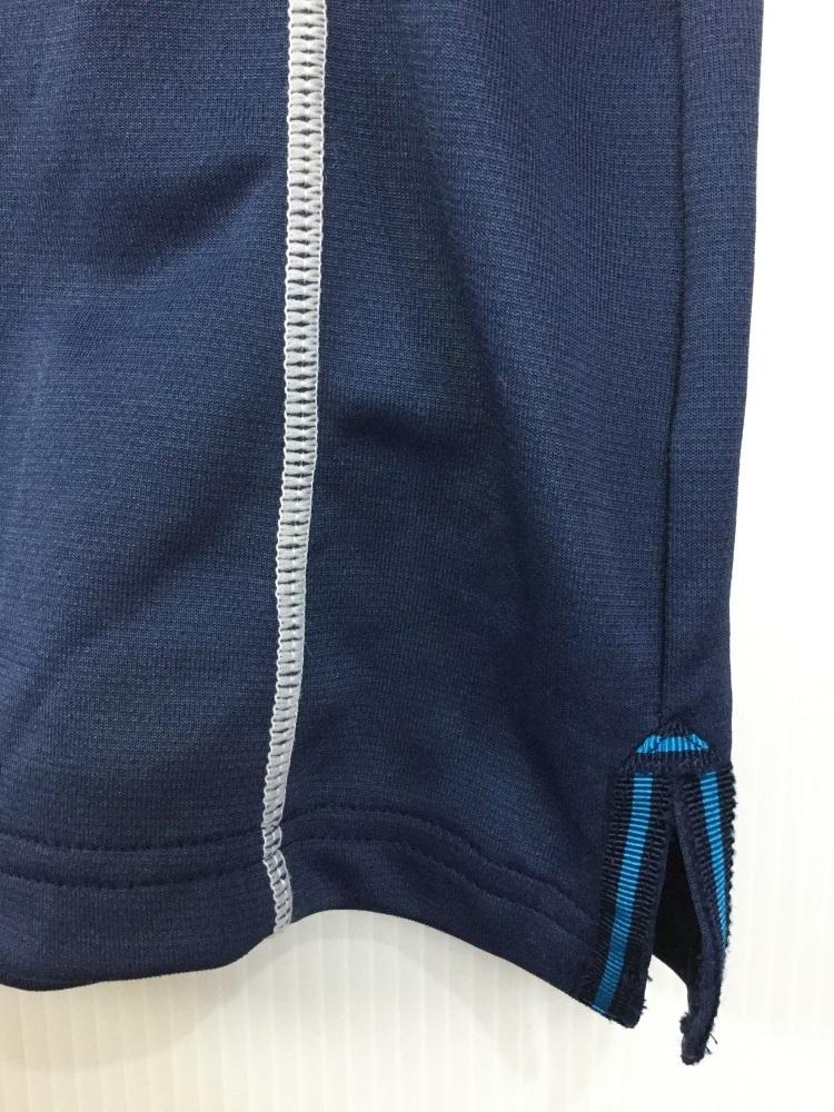 ブラック&ホワイト ダークブルー ゴルフシャツ 吸水速乾機能 サイズ2_画像3