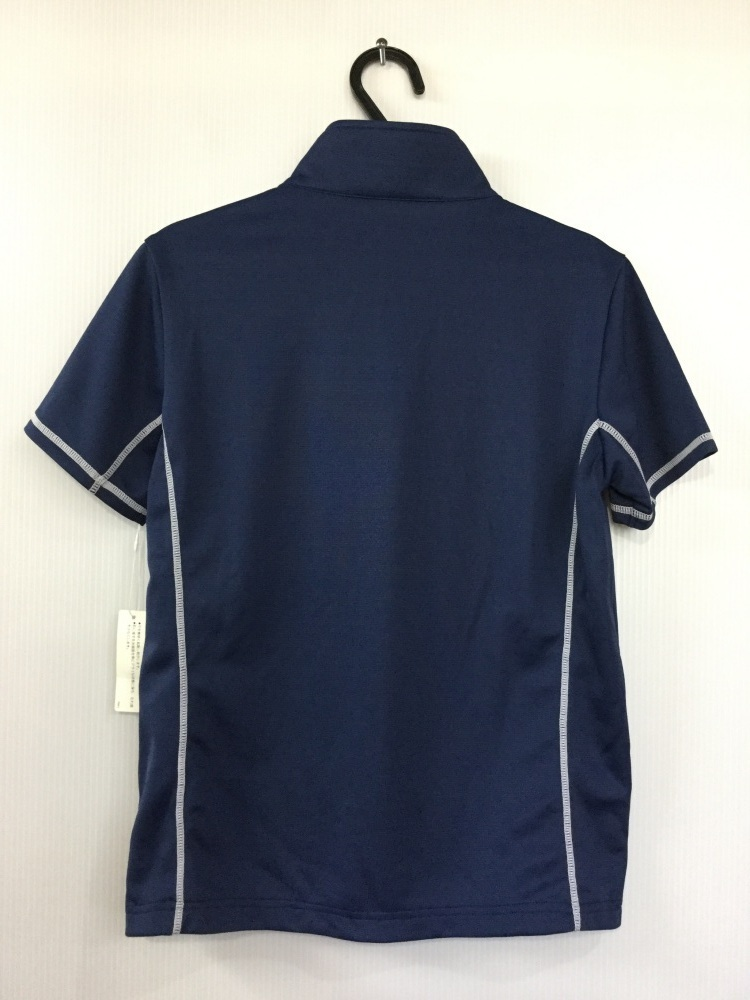 ブラック&ホワイト ダークブルー ゴルフシャツ 吸水速乾機能 サイズ2_画像4