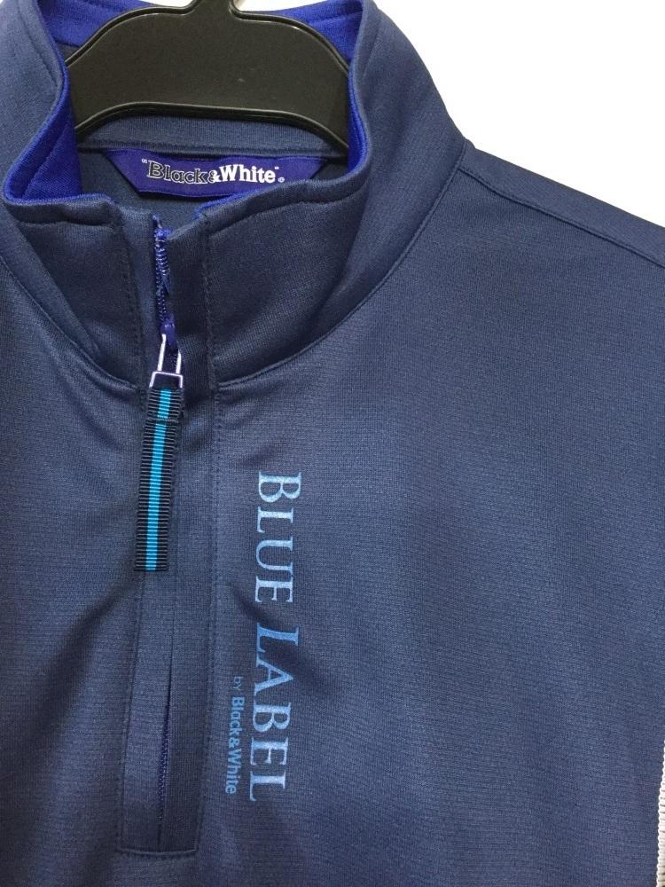 ブラック&ホワイト ダークブルー ゴルフシャツ 吸水速乾機能 サイズ2_画像2