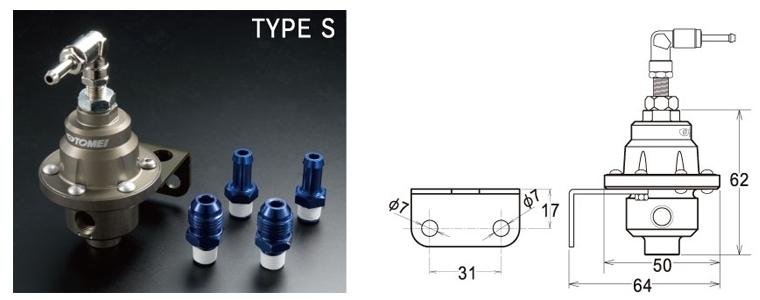 東名 TOMEI フューエル プレッシャー レギュレーターType-S 185001 在庫あり 燃圧調整式 FUEL PRESSURE REGULATOR AN6/φ8 レギュレター_画像6