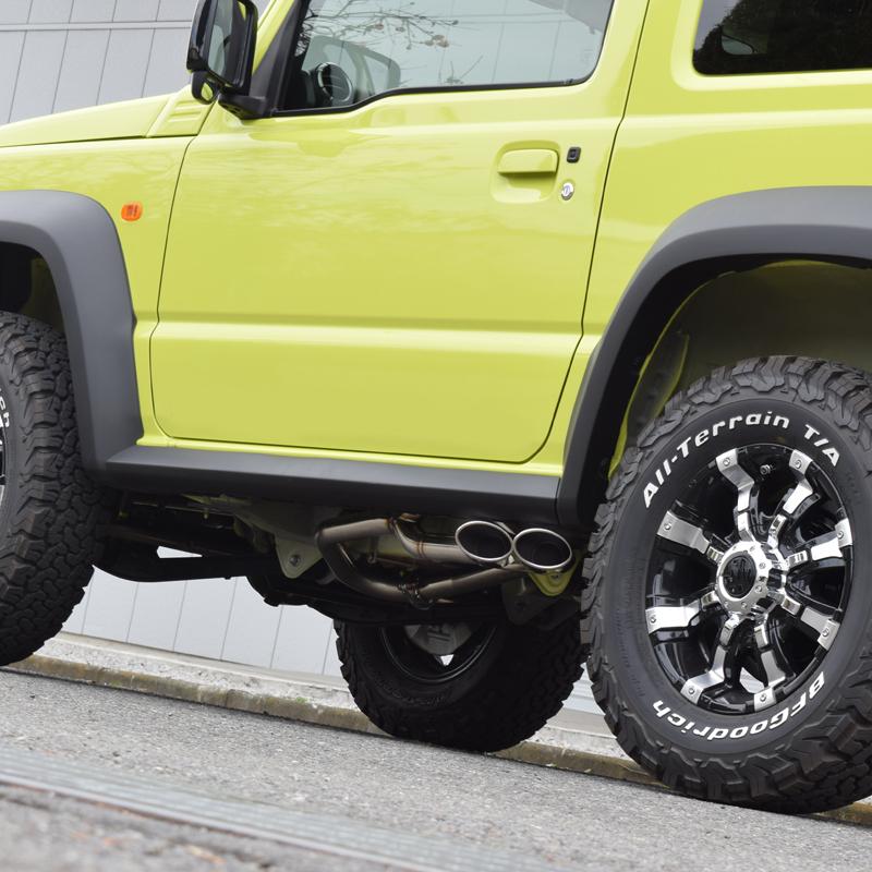 新型 ジムニー シエラ マフラー JB64W JB74W ロッソモデロ DUSSEL EX Sideface 車検対応 サイド出しスタイル_画像2