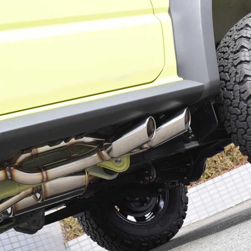新型 ジムニー シエラ マフラー JB64W JB74W ロッソモデロ DUSSEL EX Sideface 車検対応 サイド出しスタイル_画像5