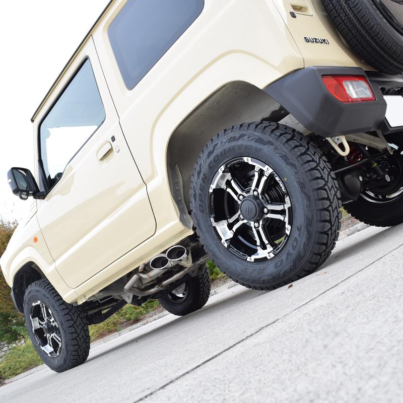 新型 ジムニー シエラ マフラー JB64W JB74W ロッソモデロ DUSSEL EX Sideface 車検対応 サイド出しスタイル_画像8