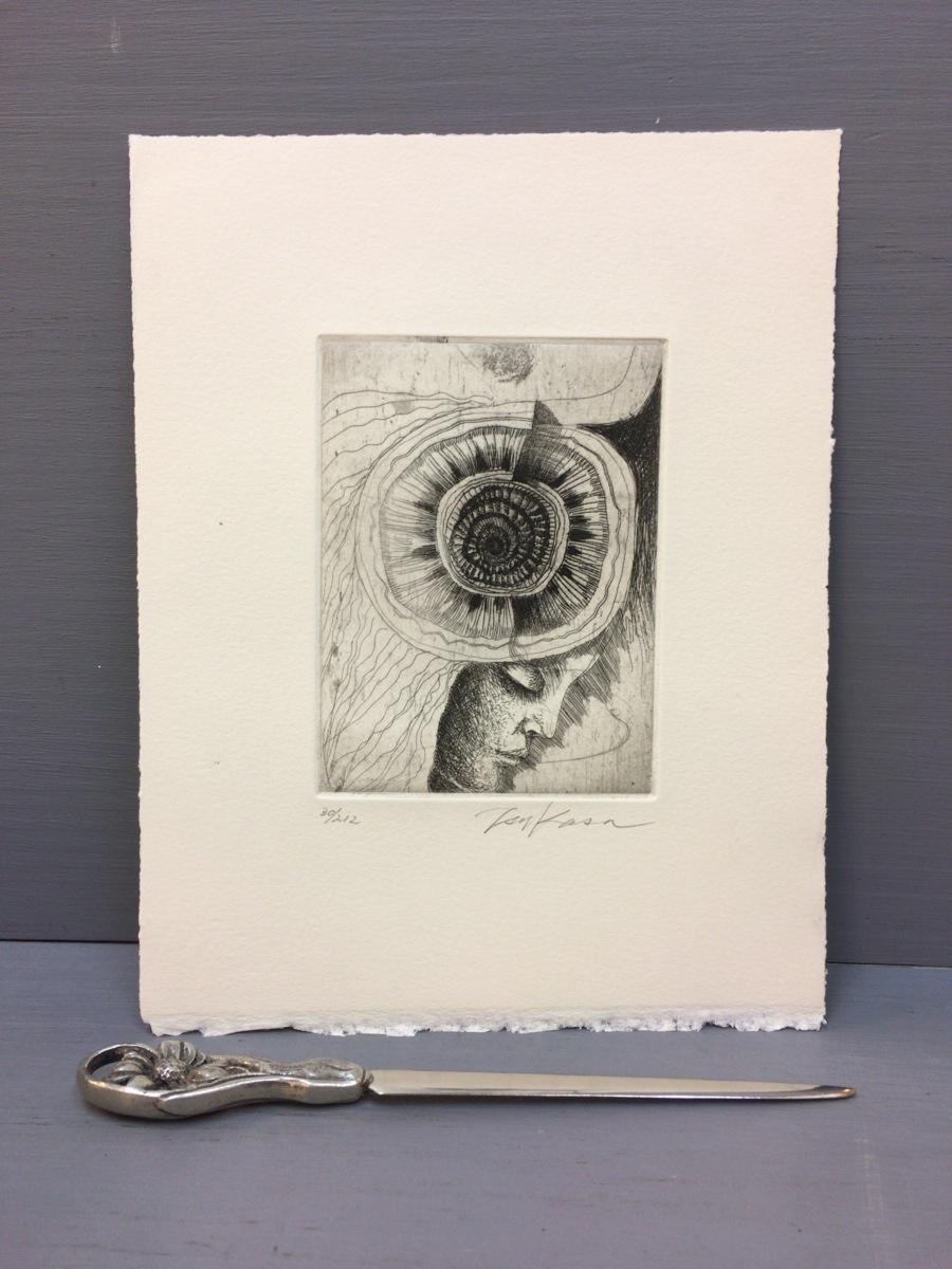 司修オリジナル銅版画8点『武田泰淳 富士 特製愛蔵版』完品 二重函 署名入 限定212部_画像3