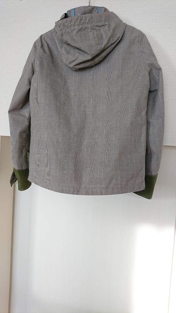 ☆フラボア FRAPBOIS チェック ジャケット ダッフル ライナー付属 グレー×グリーン サイズ1 S 美品☆_画像5
