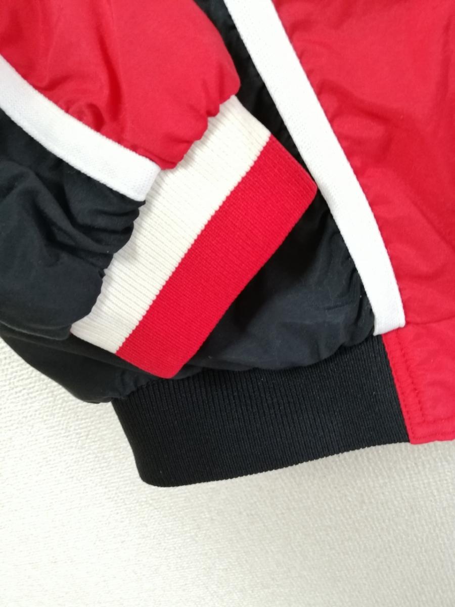 希少 champion チャンピオン シカゴブルズ ウォームアップジャージ ナイロンジャケット セットアップ パンツ 90S 90年代 L レッド(赤)_画像5