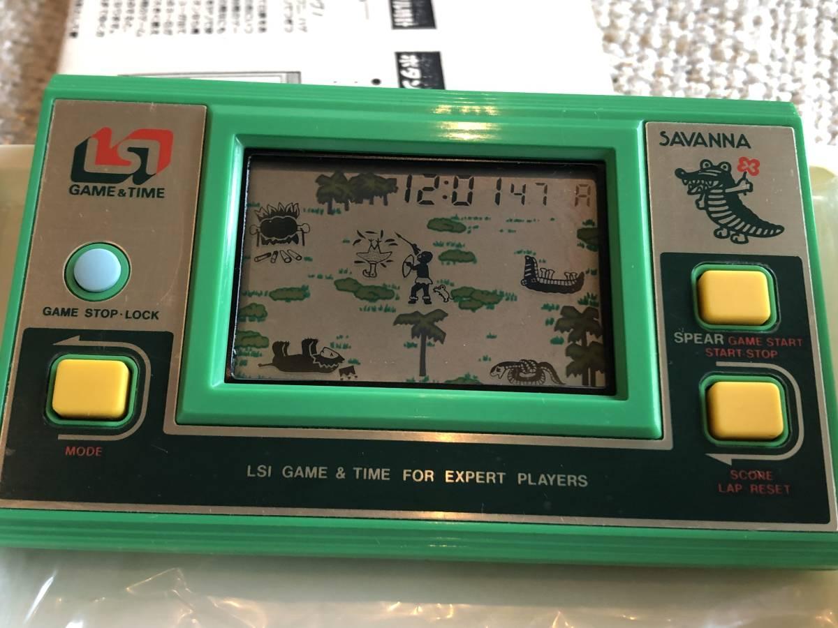 【新品未使用】ゲーム&タイム原田企画サバンナSAVANNA【検索】ゲームウォッチ/LSIゲーム/電子ゲーム/レトロゲーム/GAME&TAME_画像3